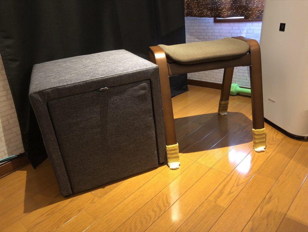 箱とスツール比較