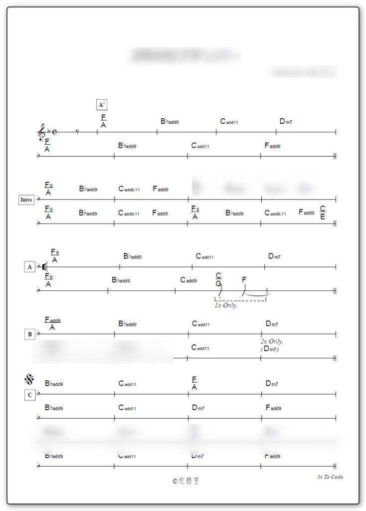 バンド演奏用コード譜