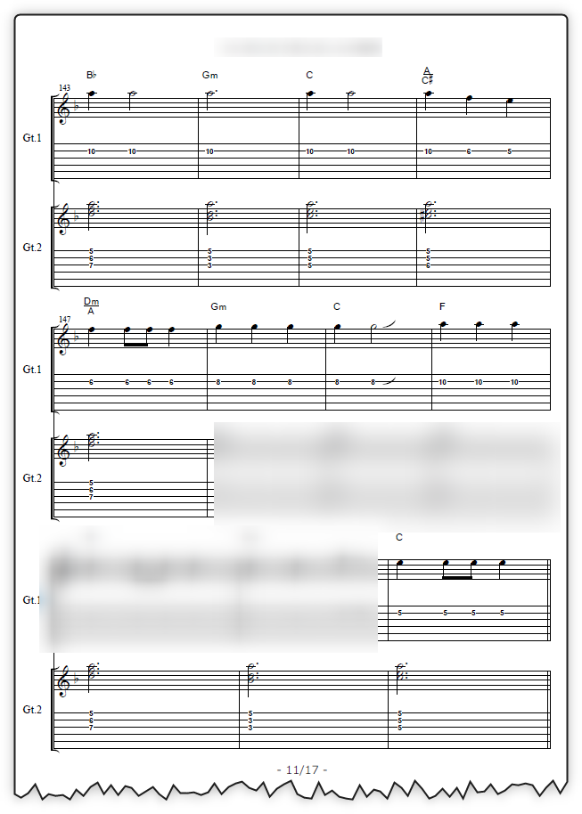 ヴィジュアル系 [ギター五線譜+TAB譜+コードネーム]