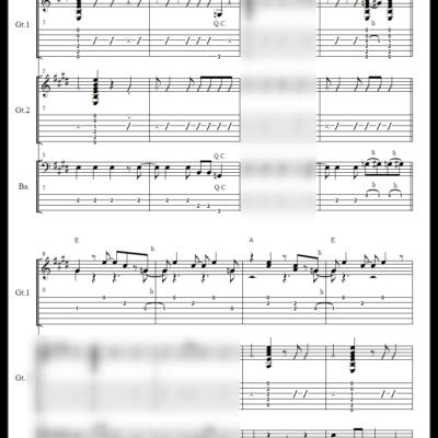 ロカビリー ギター2本+ベース(タブ譜・コードネーム付き)