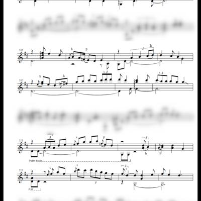 クラシック風ソロギター採譜 [五線譜のみ] 作成例